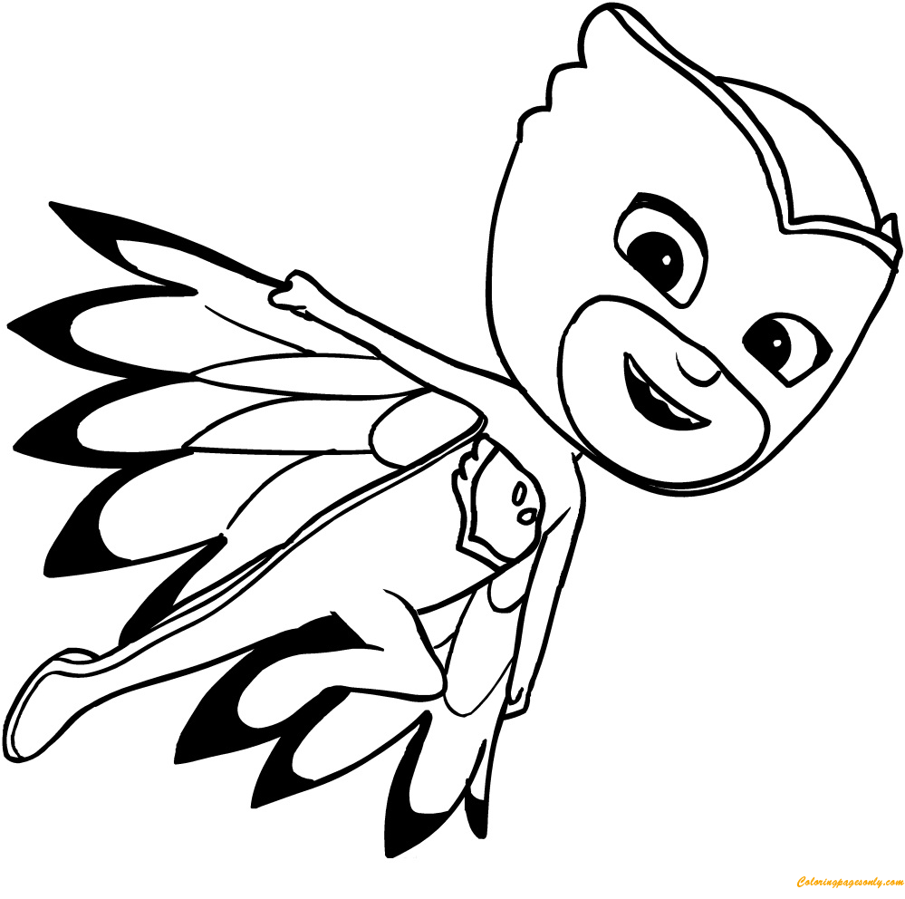 - Owlette Pj Mask Coloring Page (With Images) Pj Masks Coloring