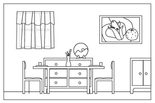 Simple And Clean Dining Room Coloring Sheet Dining Room Colors Kids Living Rooms Clean Dining Room