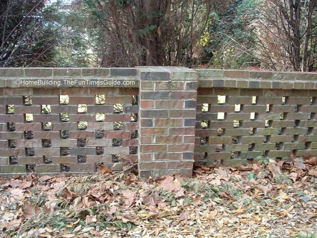 pierced brick walls a classic screen alternative - Brick Wall Fence Designs
