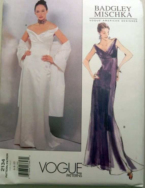 Vogue 2134 Badgley Mischka dress sewing pattern. | Badgley Mischka ...