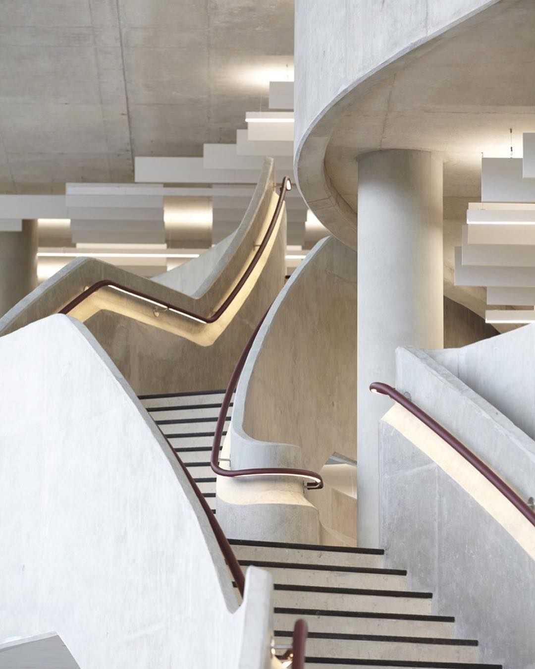 London architecture firm Make added leather handrails to