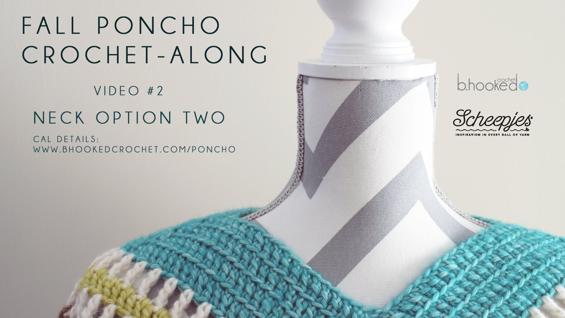 Fall Poncho CAL Neck Option Two Right Hand Video 2 | crochet 3 ...