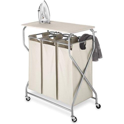 Whitmor Easy Lift Triple Sorter With Folding Table 6640 4982