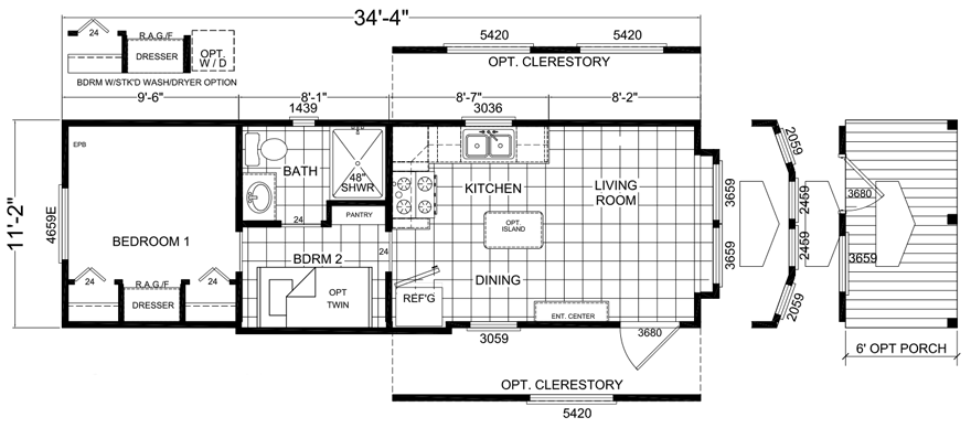 Cotterel 12 X 35 Park Model Rv Floor Plan Factory Expo Park Models In 2020 Rv Floor Plans Floor Plans Park Model Rv