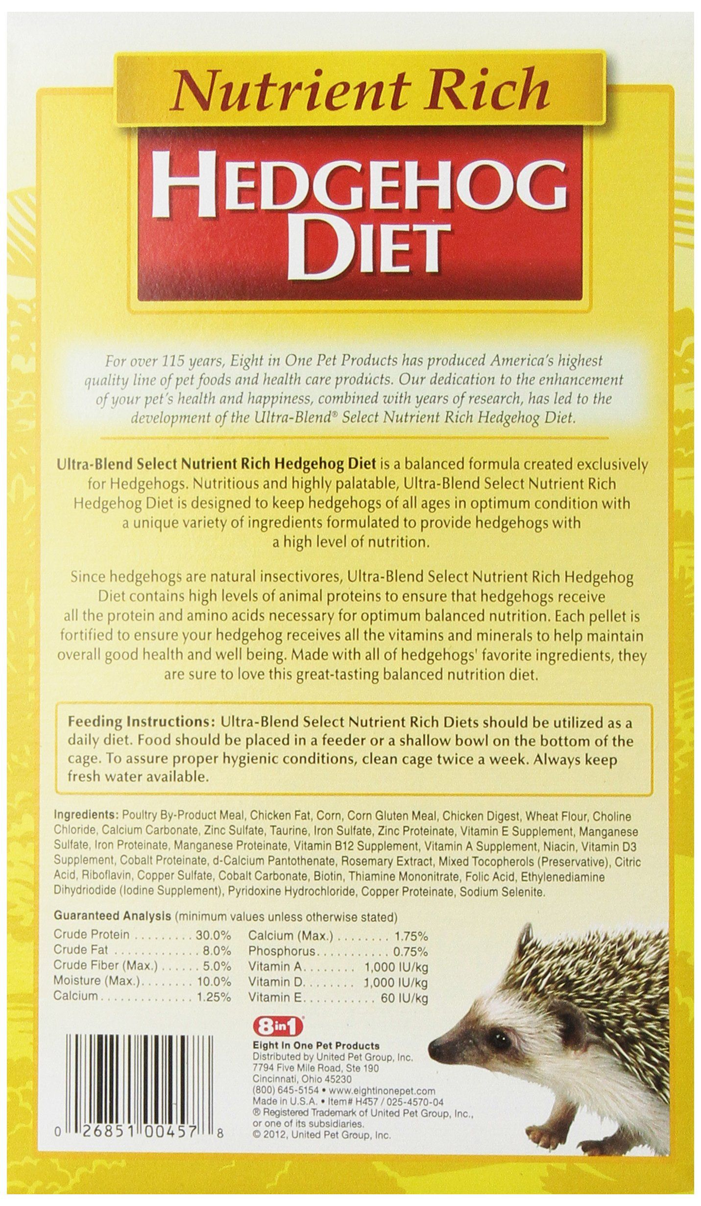 8 In 1 Ultrablend Select Hedgehog Diet 22ounce Click Photo To