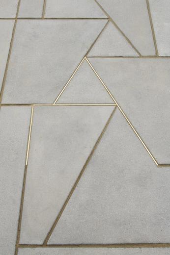 Casework Concrete Gold Floor Design Flooring Tiles