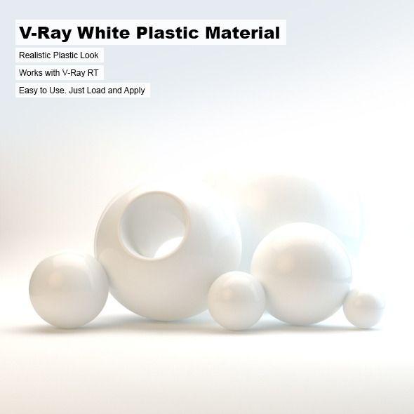 V Ray White Plastic Material White Ray Material Plastic Plastic Material Material Basic Shapes