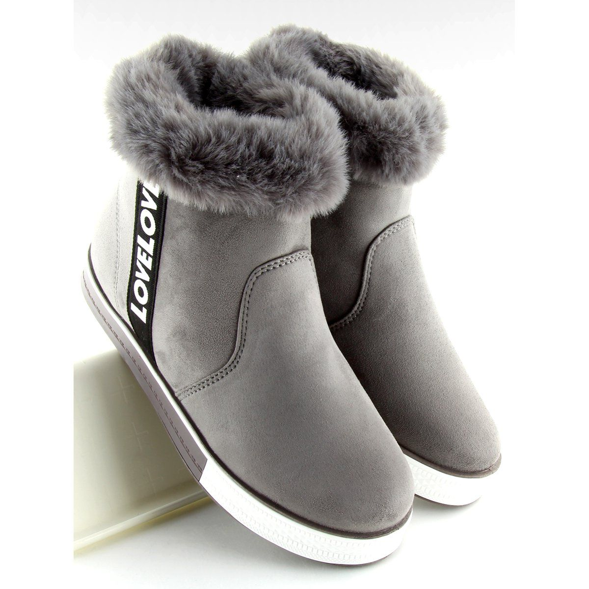 Trampki Za Kostke Ocieplane Szare Nb252p Boots Ugg Boots Slippers