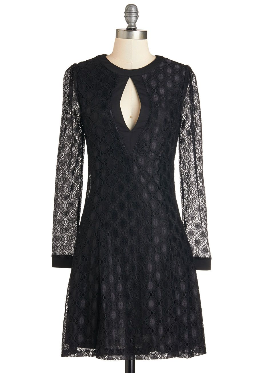 Long-Awaited Lovely Dress. Youve been waiting to find a piece as versatile and vogue as this ModCloth-exclusive, black dress! #black #modcloth