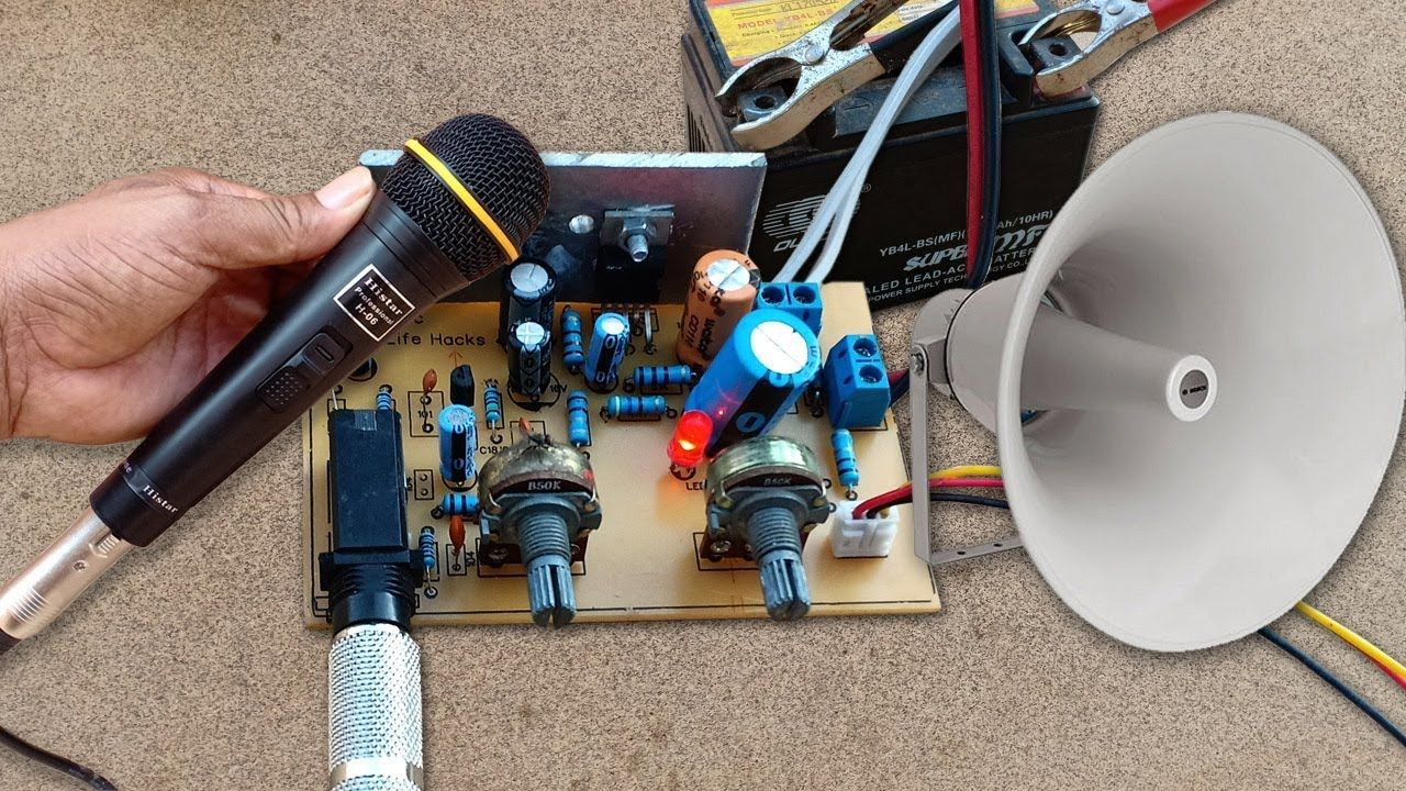 How To Make Amplifier Tda2003 With Microphone Circuit At Home