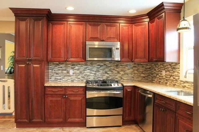 Pin By Tobey Jen On Ideas For The House Cherry Cabinets