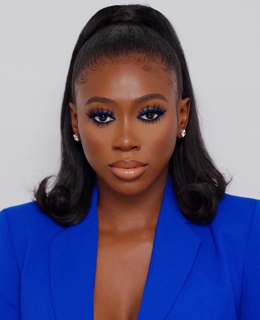 """Lilly Lashes on Instagram: """"Bluezzz💙 @vanessa_gyimah"""