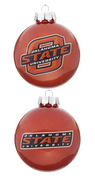 Oklahoma State University OSU Letter Christmas Ornament