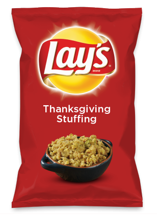 Wouldn't Thanksgiving Stuffing be yummy as a chip? Lay's Do Us A Flavor is back, and the search is on for the yummiest chip idea. Create one using your favorite flavors from around the country and you could win $1 million! https://www.dousaflavor.com See Rules.