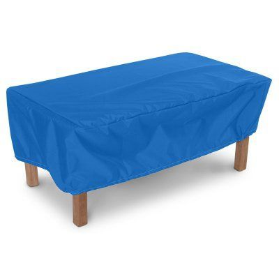 KoverRoos Weathermax Rectangle Ottoman / Small Table Cover Pacific Blue - O4261, Durable