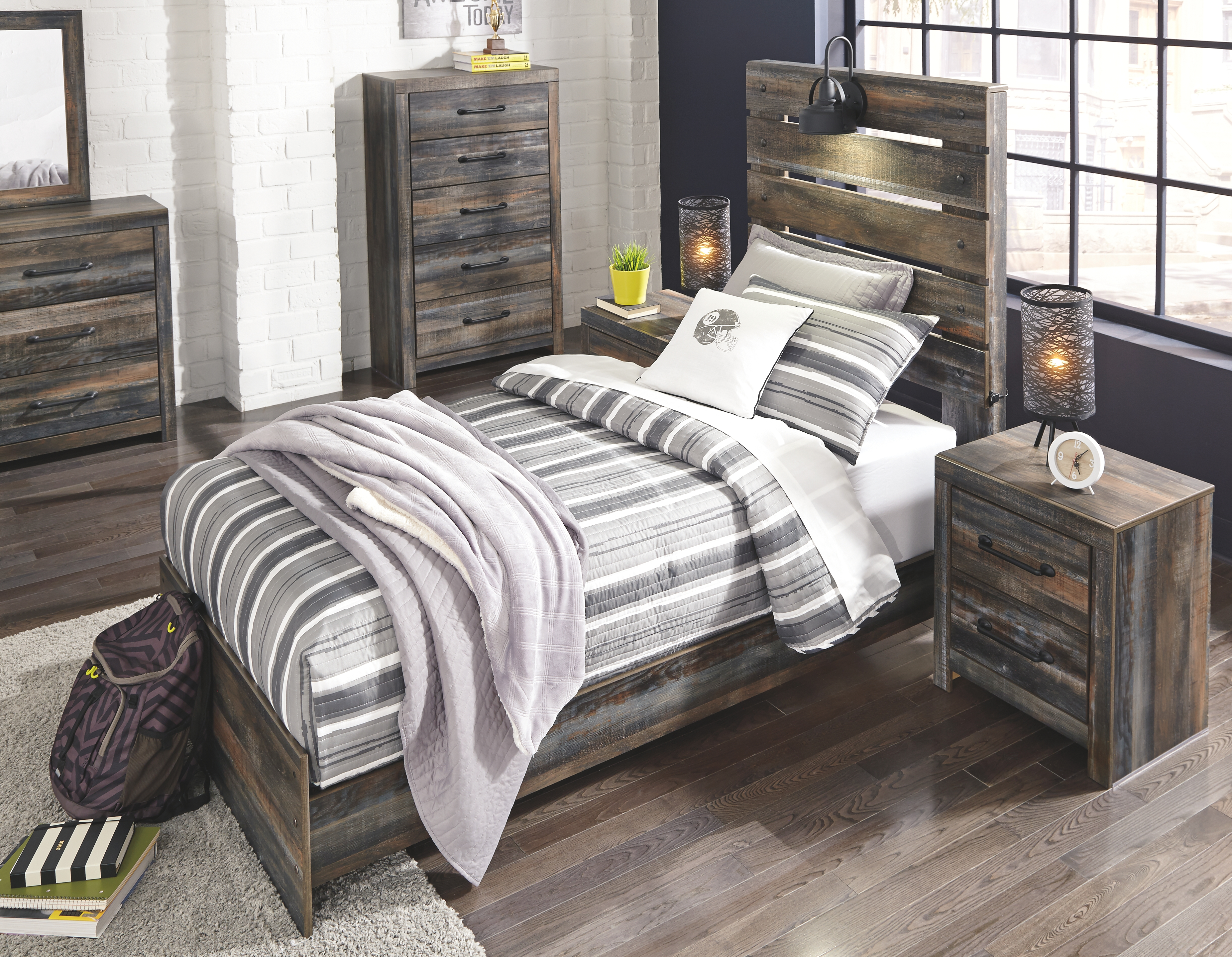 Drystan Twin Panel Bed, Multi Bedroom sets furniture