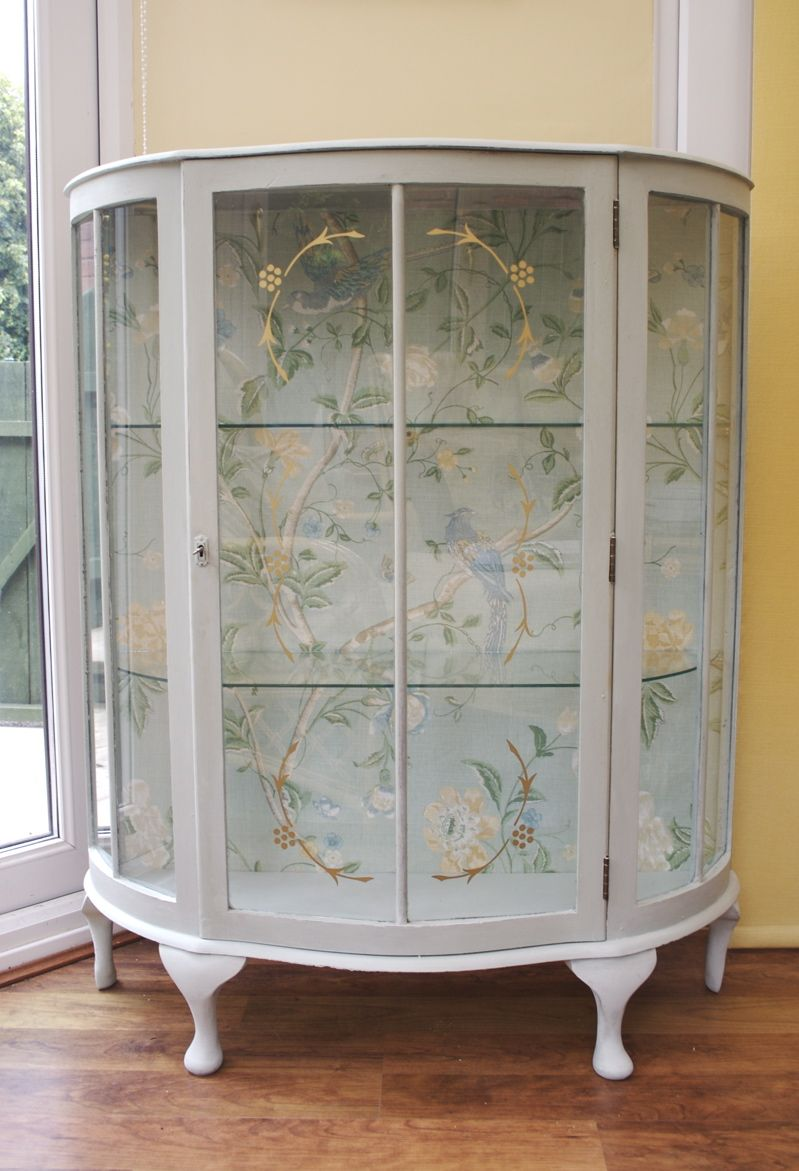 Glass Showcase Designs For Living Room: Glass Display Cabinet Painted In Annie Sloan ROCOCO (Old