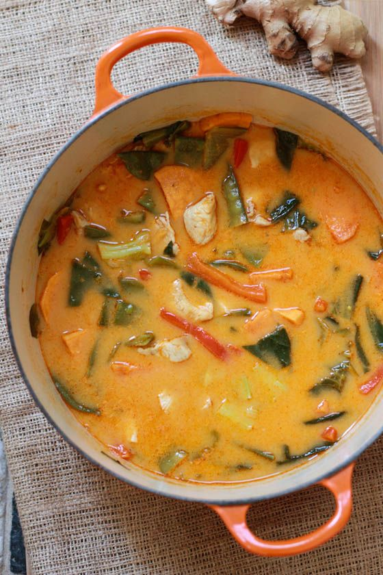 Thai red curry chicken recipe without coconut milk