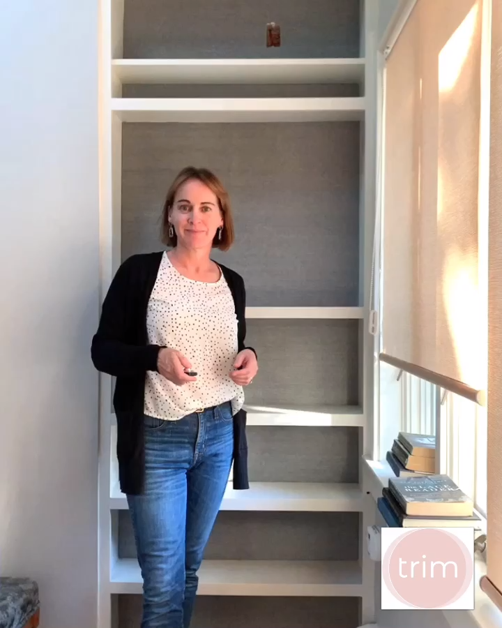 Trim Design Co.   Simple styling tips for your built-ins and bookshelves. Learn how to create a pleasing display for all the shelves in your home with this easy tutorial.