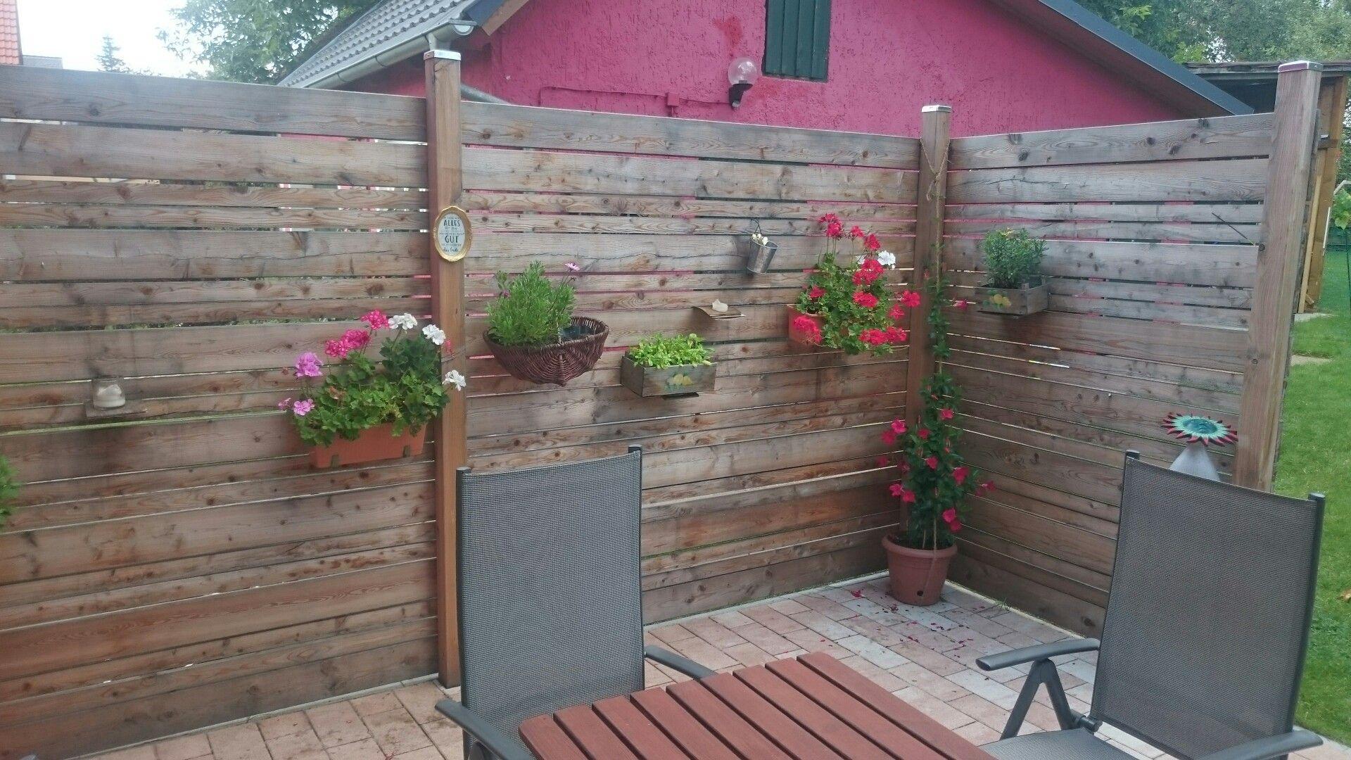 Wind Und Sicht Schutz Fur Die Terrasse Aus Larchenholz