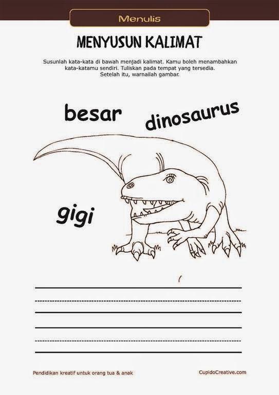 Belajar Membaca Menulis Anak Tk Sd Menyusun Kata Menjadi Kalimat