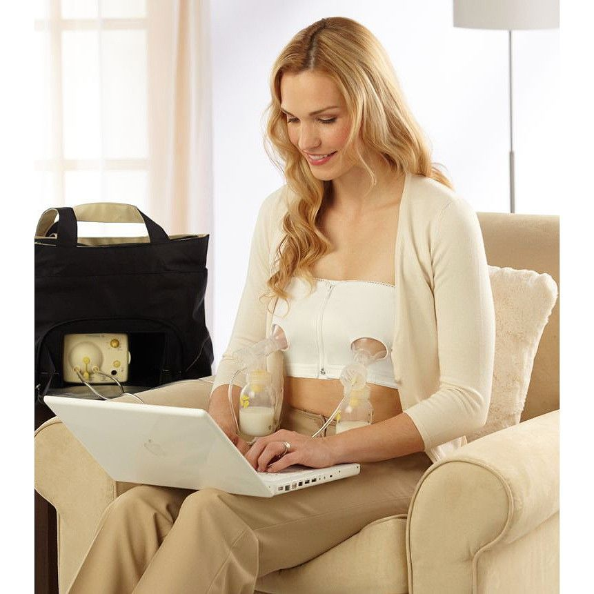 66bd5f3aa20b0 Medela Easy Expressions White Bustier : Target --- If you get a breast pump  get a double one. If you get a double pump get a