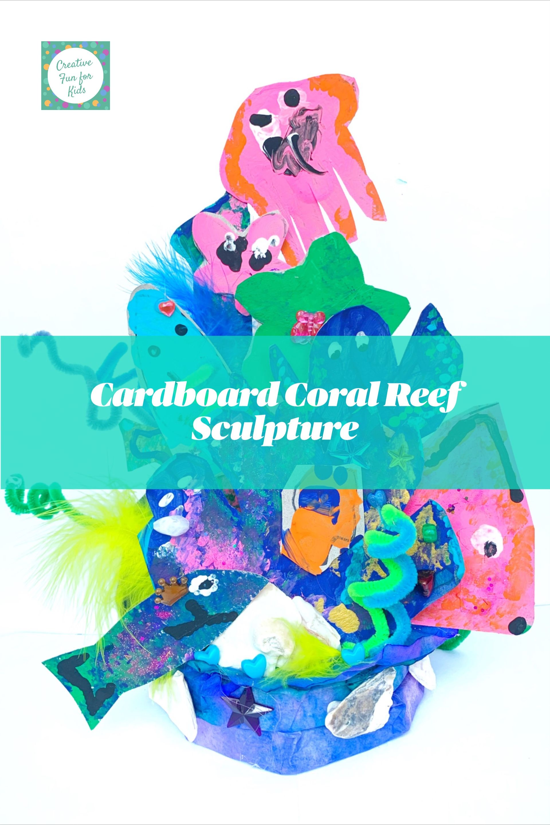 Coral Reef Sculpture Made From Cardboard And Various Craft