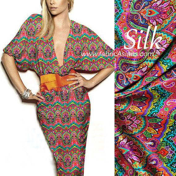 Asian Fabric. Pure Silk. Online SILK Store on Etsy ♥ Visit us ...