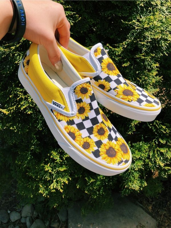 VSCO – sunflower vans | Vans schuhe, Bootsschuhe, Vans