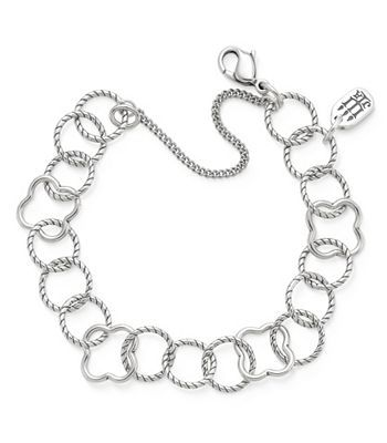 Quatrefoil Twisted Wire Multi Link Bracelet