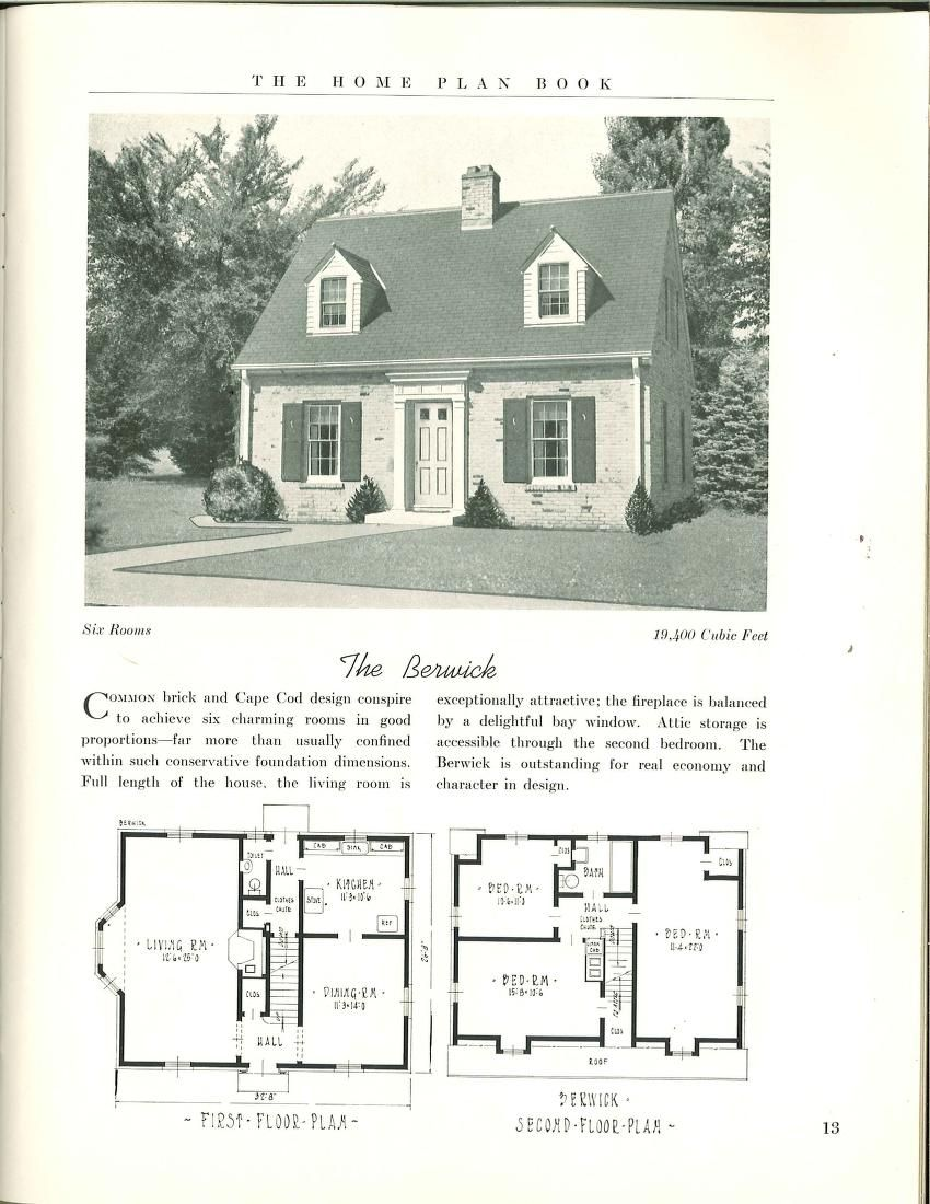 The Home Plan Book 49 Designs House Plans Cape Cod House Plans Vintage House Plans
