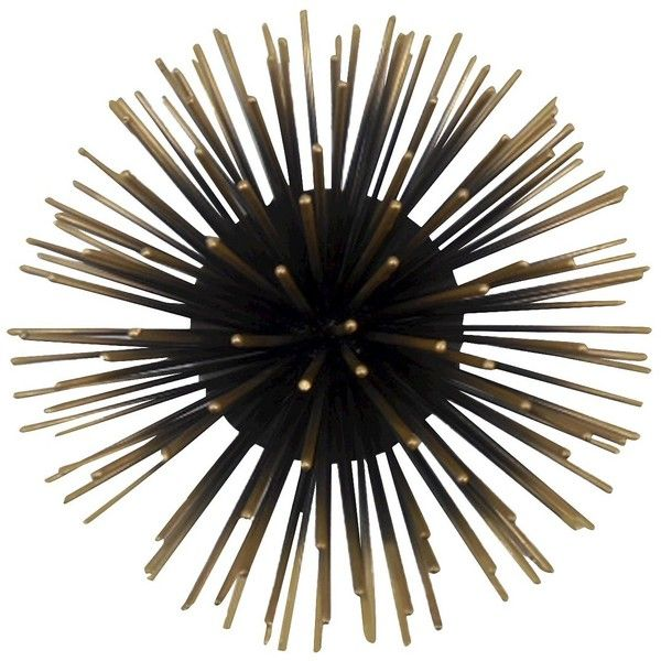 Decorative Metal Urchin Wall Art 13 Liked On Polyvore