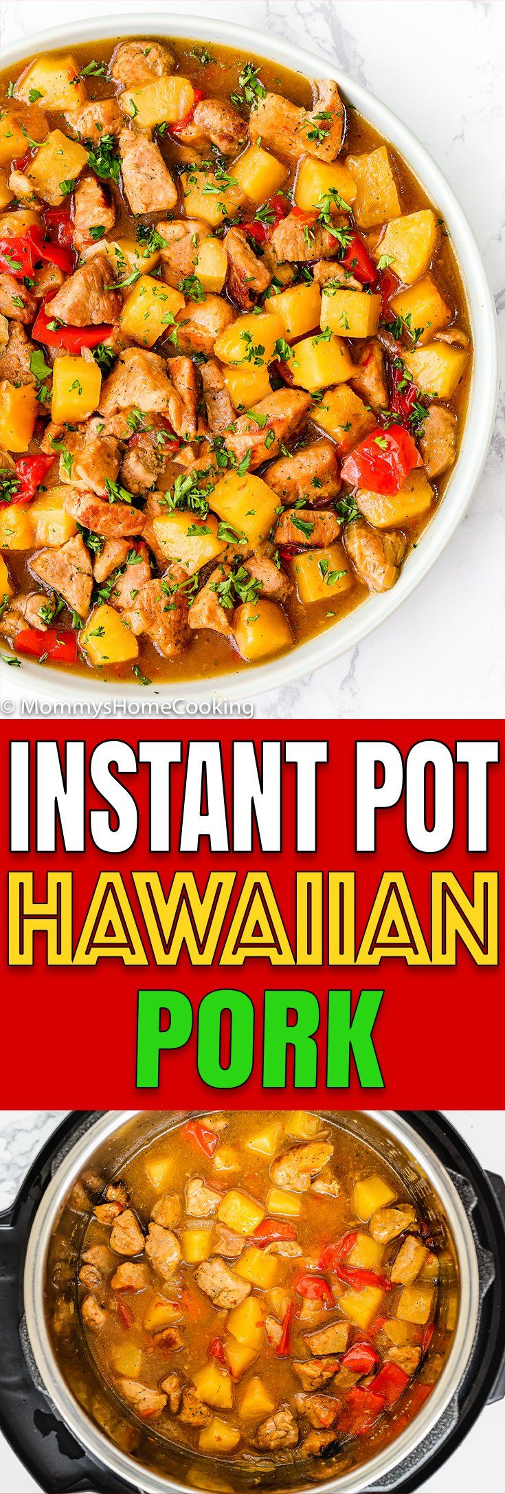 Photo of This Instant Pot Hawaiian Pineapple Pork recipe is a quick a…