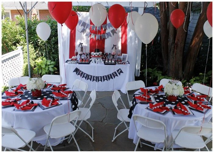 Real Parties Red White Graduation Party White Graduation