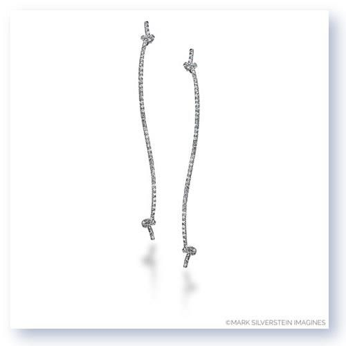 Shop online MARK SILVERSTEIN 4028-18KW 18K - White Gold DIAMOND Earrings  at Arthur's Jewelers. Free Shipping