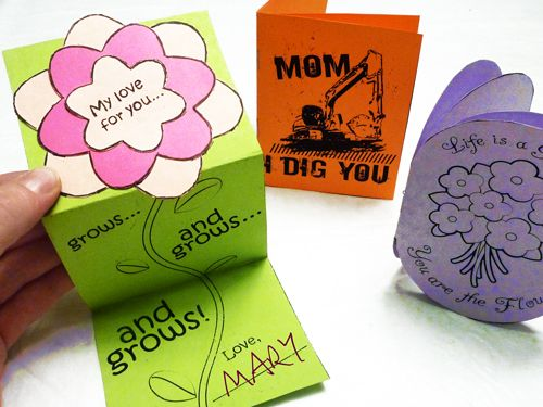 Cute cards for kids to make for mom and grandma on Mother ...