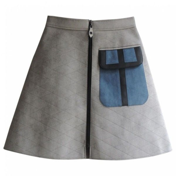 Grey skirt LOUIS VUITTON (€1.090) ❤ liked on Polyvore featuring skirts, louis vuitton, grey skirt and gray skirt