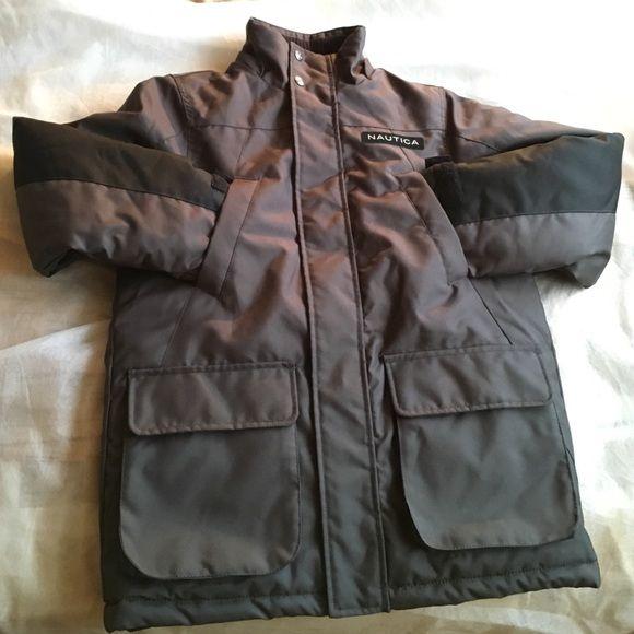 765c0a7aee1e Boys Nautical Coat Winter Coat Boys Nautica Grey color with black on ...
