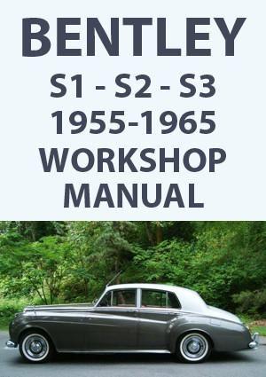 bentley s1 s2 s3 1955 1965 workshop manual car manuals bentley rh pinterest co uk bentley car manual Bentley Arnage