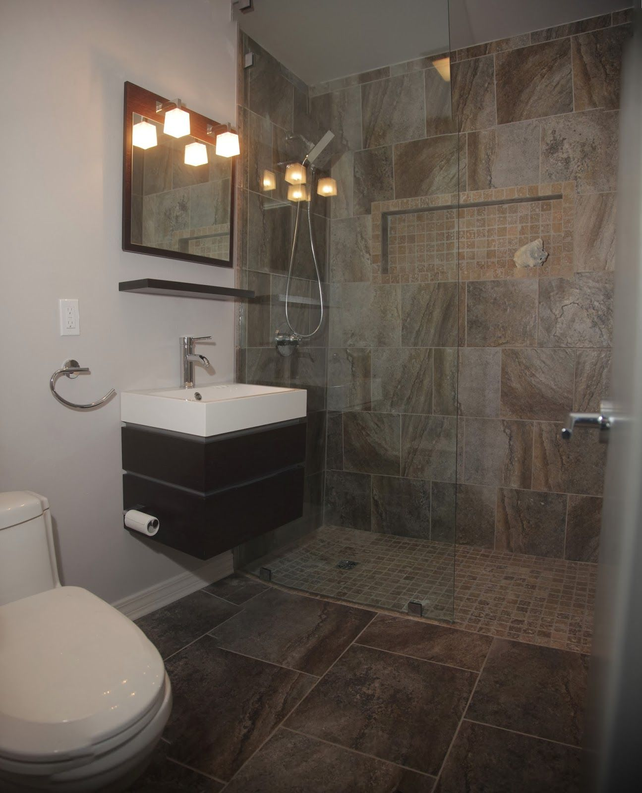 Red River Remodelers Bathroom Remodel No Shower Door Glass Panel