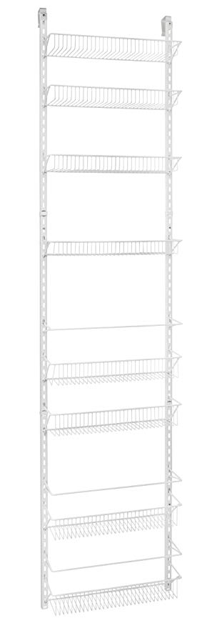 Amazon Com Closetmaid 1231 Adjustable 8 Tier Wall And Door Rack 77 Inch Height X 12 Inch Wide Gateway Door Rack Closetmaid Door Spice Rack
