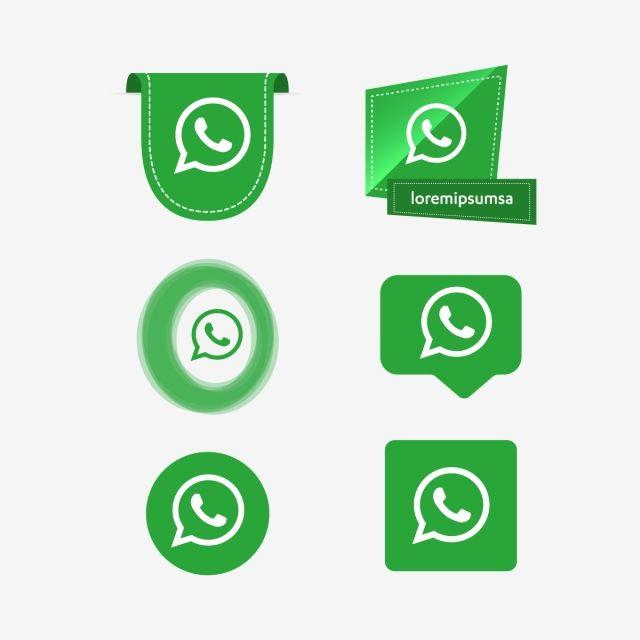 Whatsapp Whats App Icon Logo Collection Set Social Media Vector