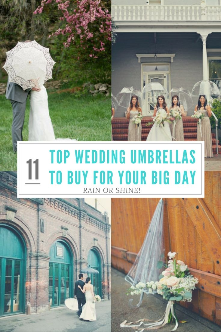 11 Top Wedding Umbrellas To Buy For Your Big Day Rain Or Shine Umbrella Wedding Rain On Wedding Day Wedding