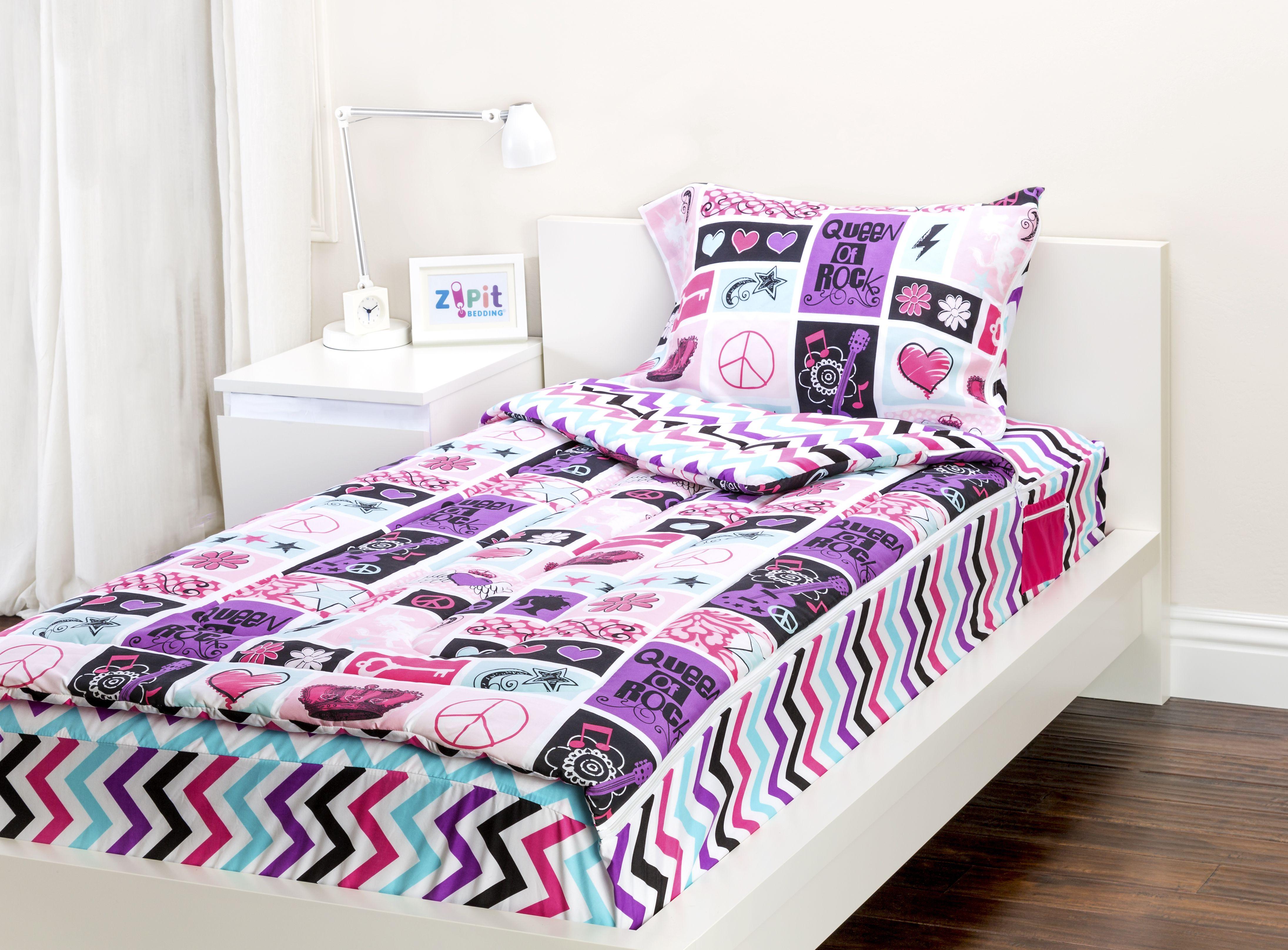 Rocker Princess Zipit Bedding Set. Zipit Bedding is