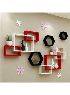 Por Pretty 1 Set Wood Wall Shelves