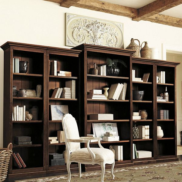 Ballard Designs Tuscan Bookcase Set 5 Piece 3 299 Liked On Polyvore Featuring Home Furniture Wood And Wooden
