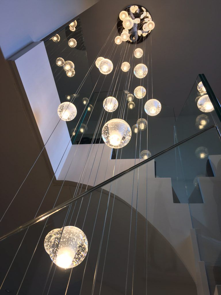 Air Bubble Stairwell Chandelier