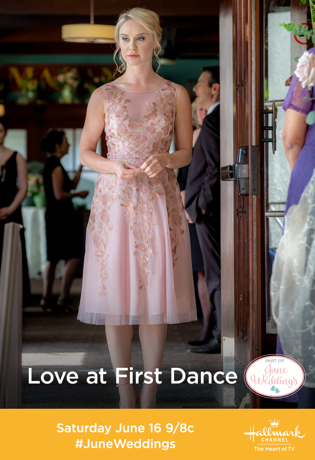 Will Hope Becca Tobin Choose Love At First Dance Or Her Dream Job Join Hope And Eric Niall Matter On Saturday June  8c On Hallmark Channel