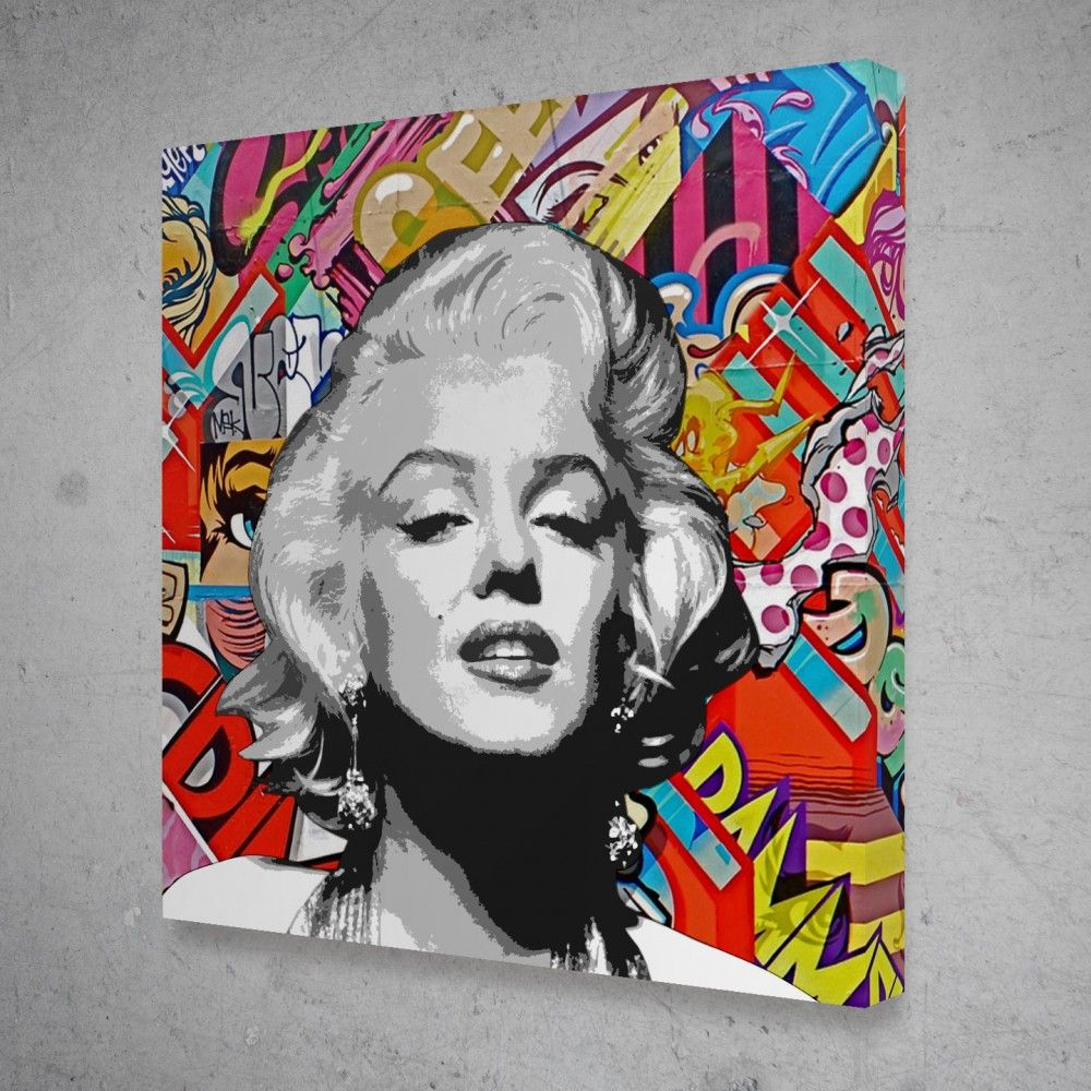 Marilyn Monroe Graffiti Pop Culture Modern Canvas Wall Art Modern Wall Art Canvas Pop Art Marilyn Marilyn Monroe Pop Art