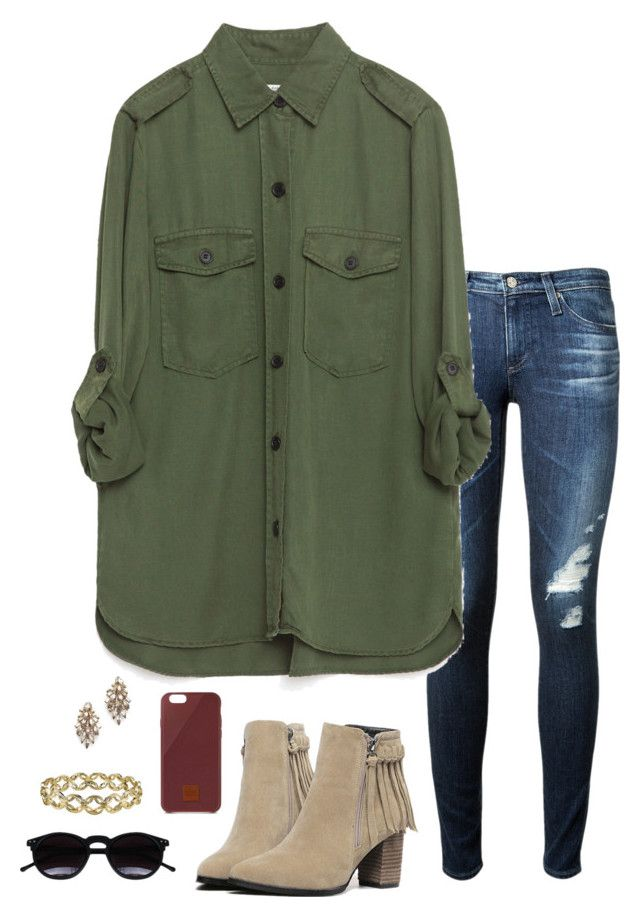"""Untitled #147"" by annakhowton ❤ liked on Polyvore featuring AG Adriano Goldschmied, Zara, Chicnova Fashion, Native Union, Elizabeth Cole, 1928, women's clothing, women's fashion, women and female"